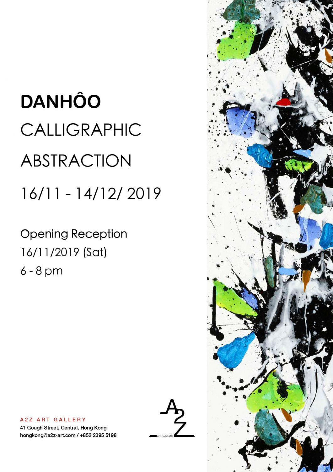 Affiche expo Calligraphic Abstraction 2019